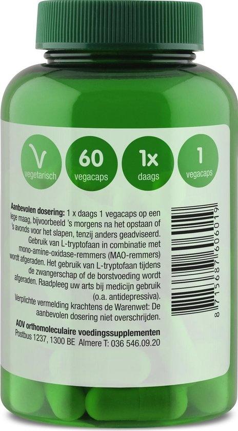 AOV 601 L-Tryptofaan 500mg  Aminozuren Voedingssupplementen - 60 vegacaps