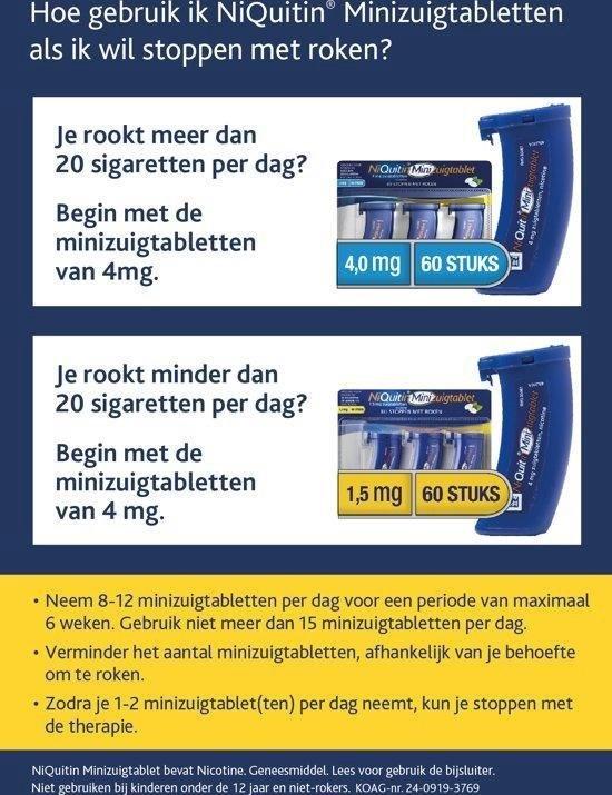 NiQuitin Mini Lutschtabletten 1,5 mg - Raucherentwöhnung - 60 Stk