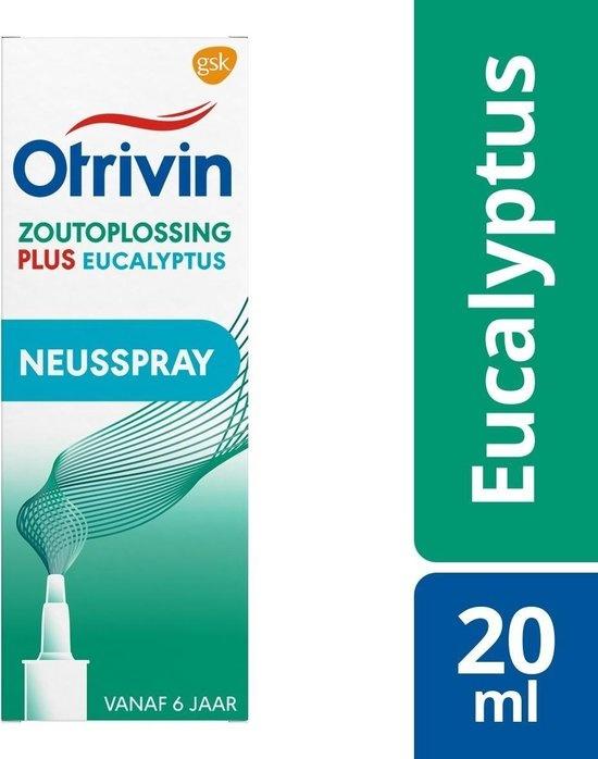 Otrivin Plus Eukalyptus - Kochsalzlösung - 20 ml - Nasenspray