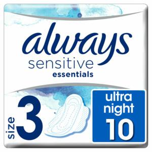 Always - maandverband met vleugels - Sensitive Essentials Night
