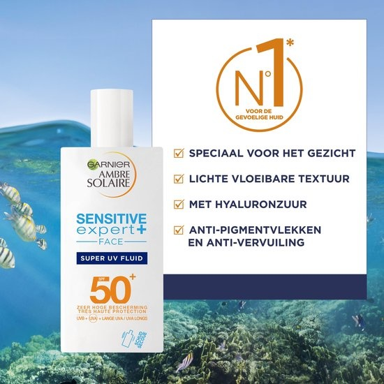 Garnier - Ambre Solaire Sensitiver Experte + - SPF 50+ - 40 ml