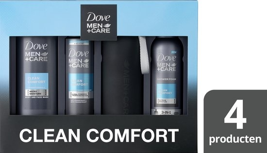 Dove Gift Set Clean Comfort + Bottle - Gift Package