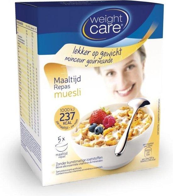 Weight Care Muesli Maaltijdvervanger - 5 stuks