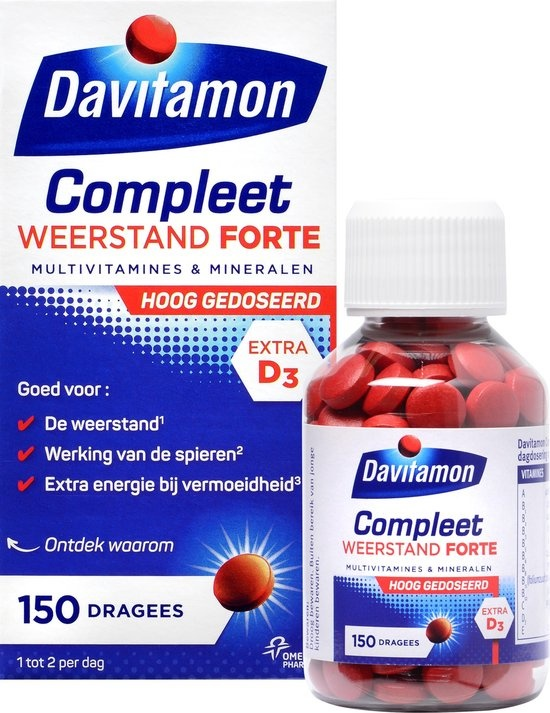Davitamon Complete Resistance Forte Highly Dosed Dietary Supplement - 150 tablets