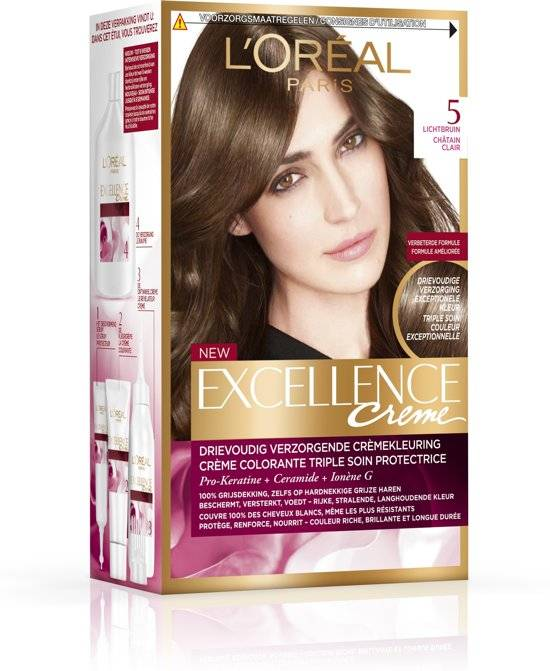 L'Oréal Paris Excellence Crème 5 - Light brown hair dye - Packaging damaged