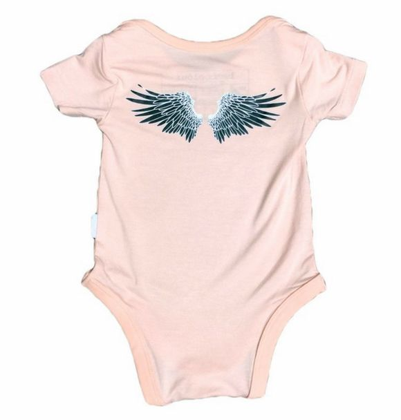 Bambooloui ANGLE WING ONESIE PINK