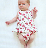 Ollie Jones SKIRTED SWIM WILD CHERRY | HANDMADE CLOTHING FOR KIDS