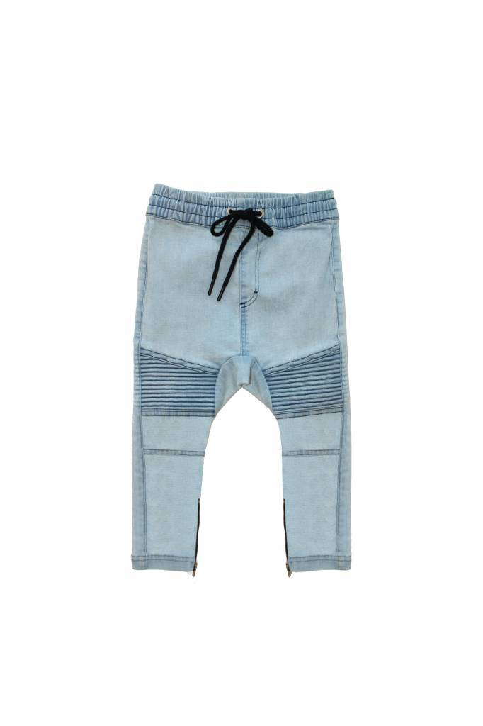 Adam + Yve BLAUWE DROP CROTCH DENIM JEANS VOOR JONGENS | ADAM + YVE