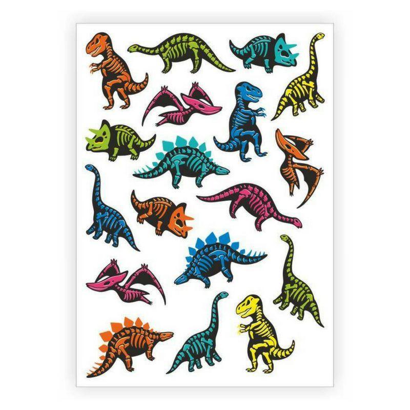 Ducky Street Tattoeage stickers | Tattoos voor kinderen | Dinosaurus stickers