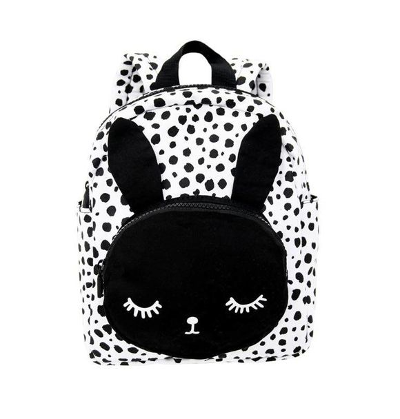 VanPauline BACKPACK BUNNY WHITE DOTS
