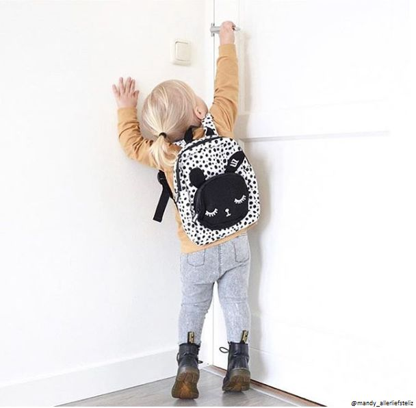 VanPauline WHITE BACKPACK BUNNY | CHILDRENS' BACKPACK | VANPAULINE