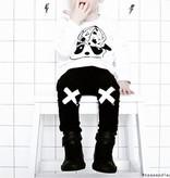VanPauline BLACK PANTS WITH CROSSES ON KNEES | CHILDREN'S CLOTHES VANPAULINE