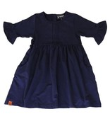 Oovy NAVY BELL SLEEVE DRESS - OOVY