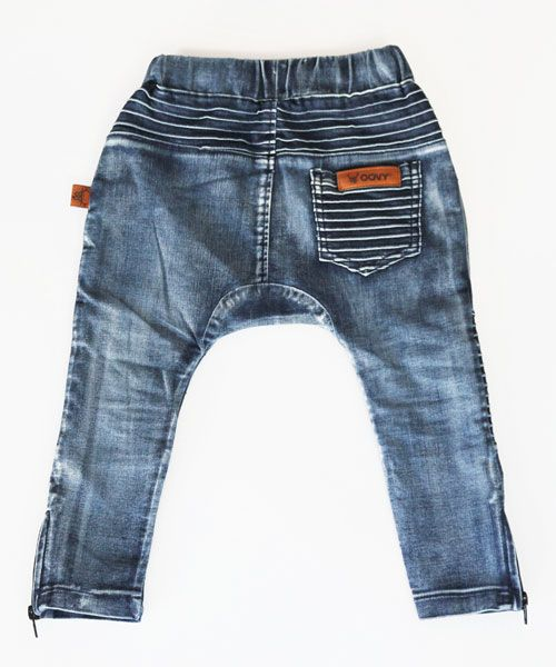 Oovy DENIM DISTRESSED PANTS - OOVY