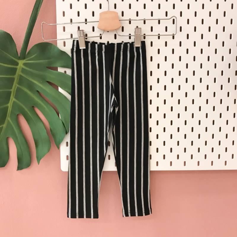 gestreepte broek meisjes zwart wit