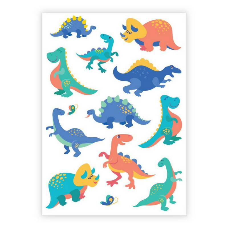 Ducky Street DINO TATTOO |  Sticker Kinder tatoeages met dinosaurussen