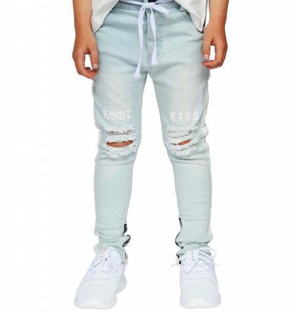 Beaubella Kids DESTROYED DENIM JEANS - BLUE