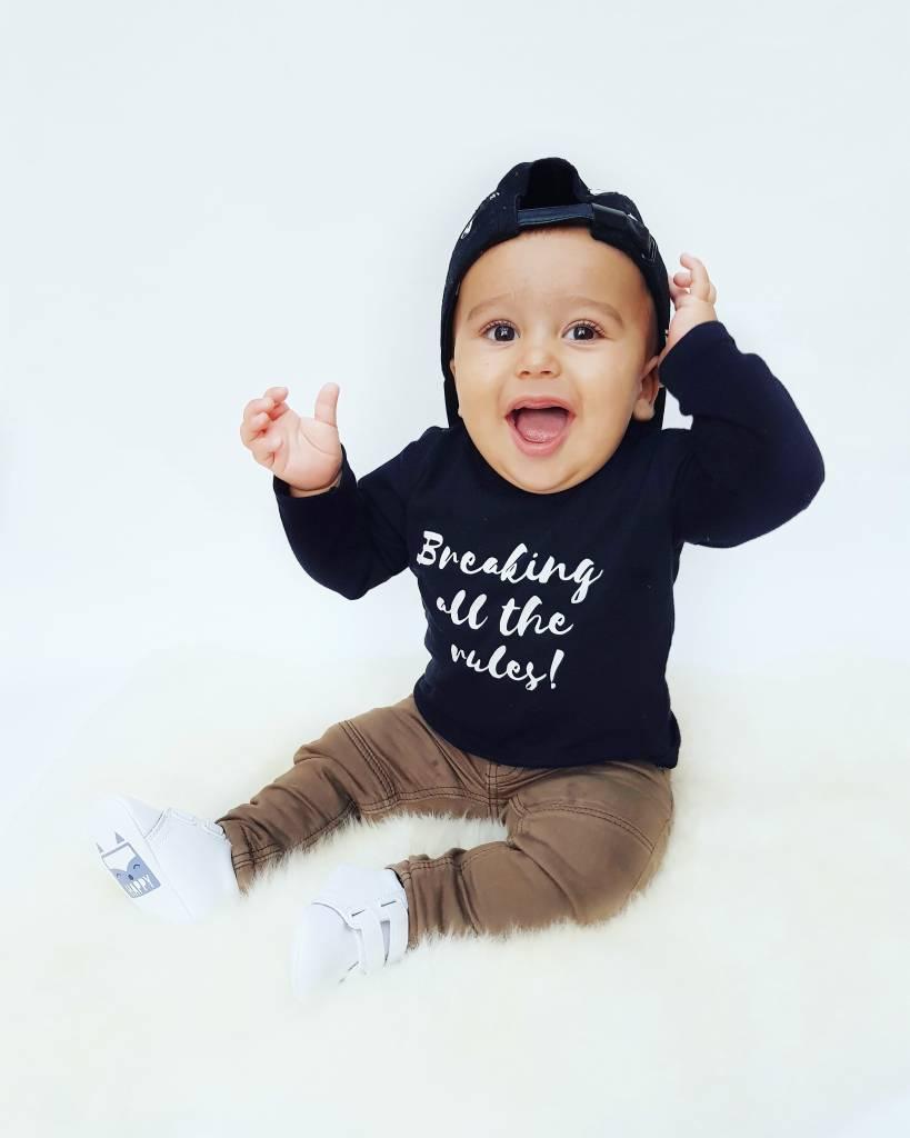 t-shirt zwart Babycloset