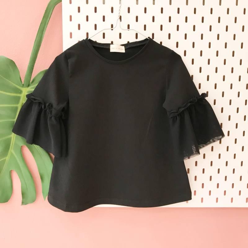 chic shirt zwart voor meisjes