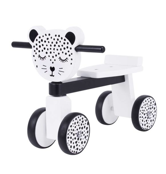 VanPauline WOODEN RIDE LEOPARD + NAME