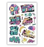 Ducky Street 90s TATTOO -  Sticker Kinder tatoeages met water afneembaar