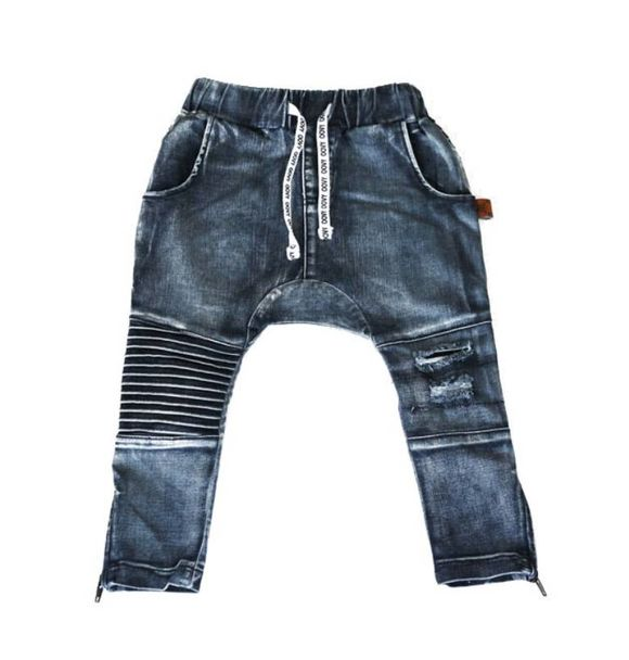 Oovy DENIM DISTRESSED PANTS