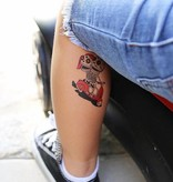 Ducky Street SKELETONS TATTOO -  Sticker Kinder tatoeages met water afneembaar
