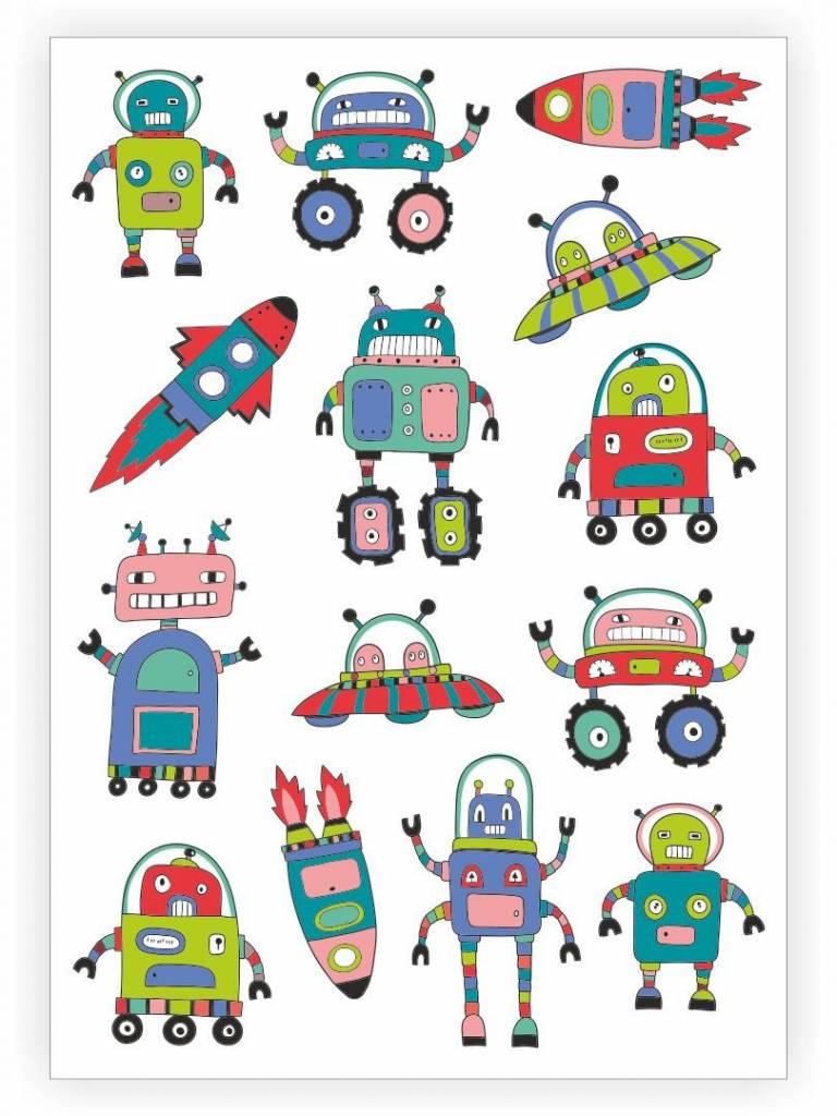 Ducky Street SPACE TATTOO -  Sticker Kinder tatoeages met water afneembaar