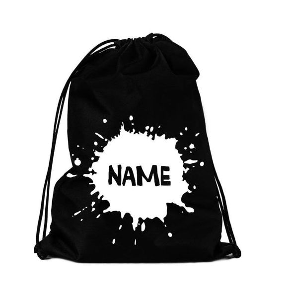 VanPauline STRINGBAG SPLATTER + NAME