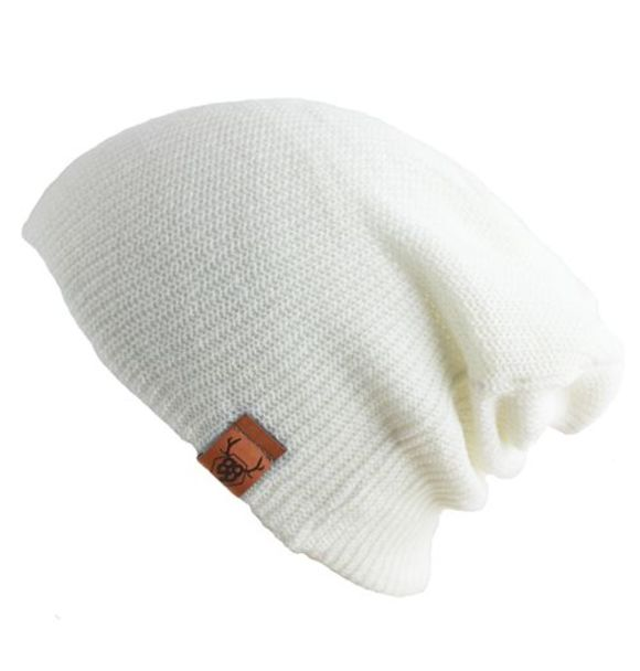 Oovy WHITE KNIT BEANIE