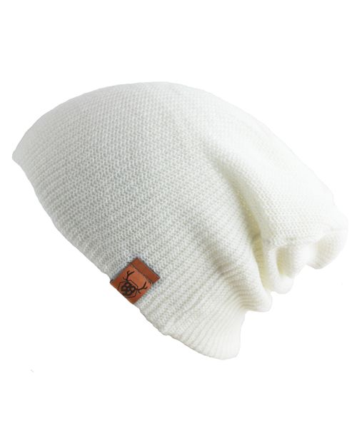Oovy WHITE KNIT BEANIE  | OOVY