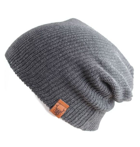 Oovy CHARCOAL KNIT BEANIE
