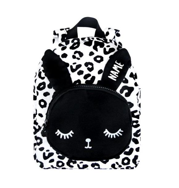 VanPauline BACKPACK BUNNY WHITE LEOPARD + NAME