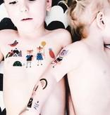 Ducky Street SCANDINAVIAN  TATTOO -  Sticker Kinder tatoeages met water afneembaar