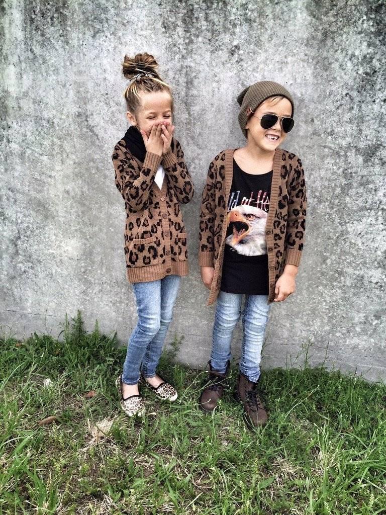 meisjes vest luipaardprint