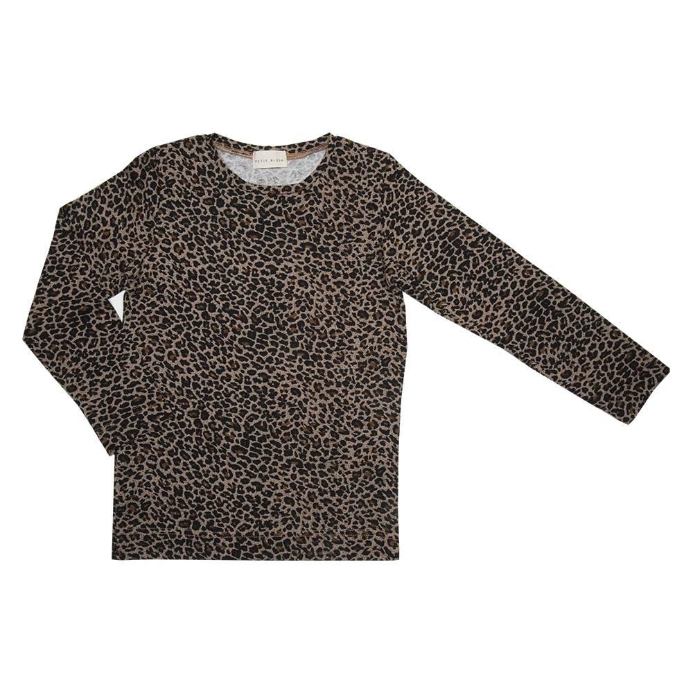 longsleeve meisjes luipaardprint