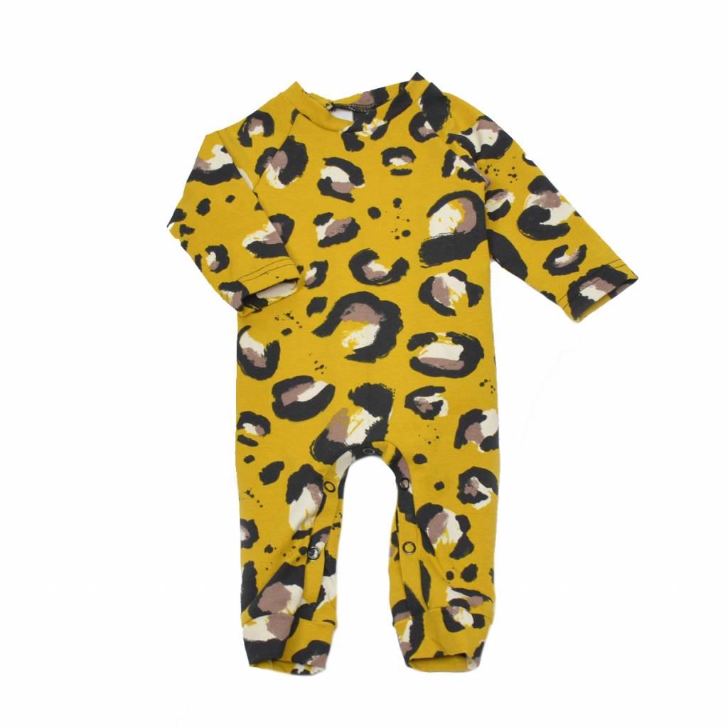 boxpakje okergeel luipaardprint