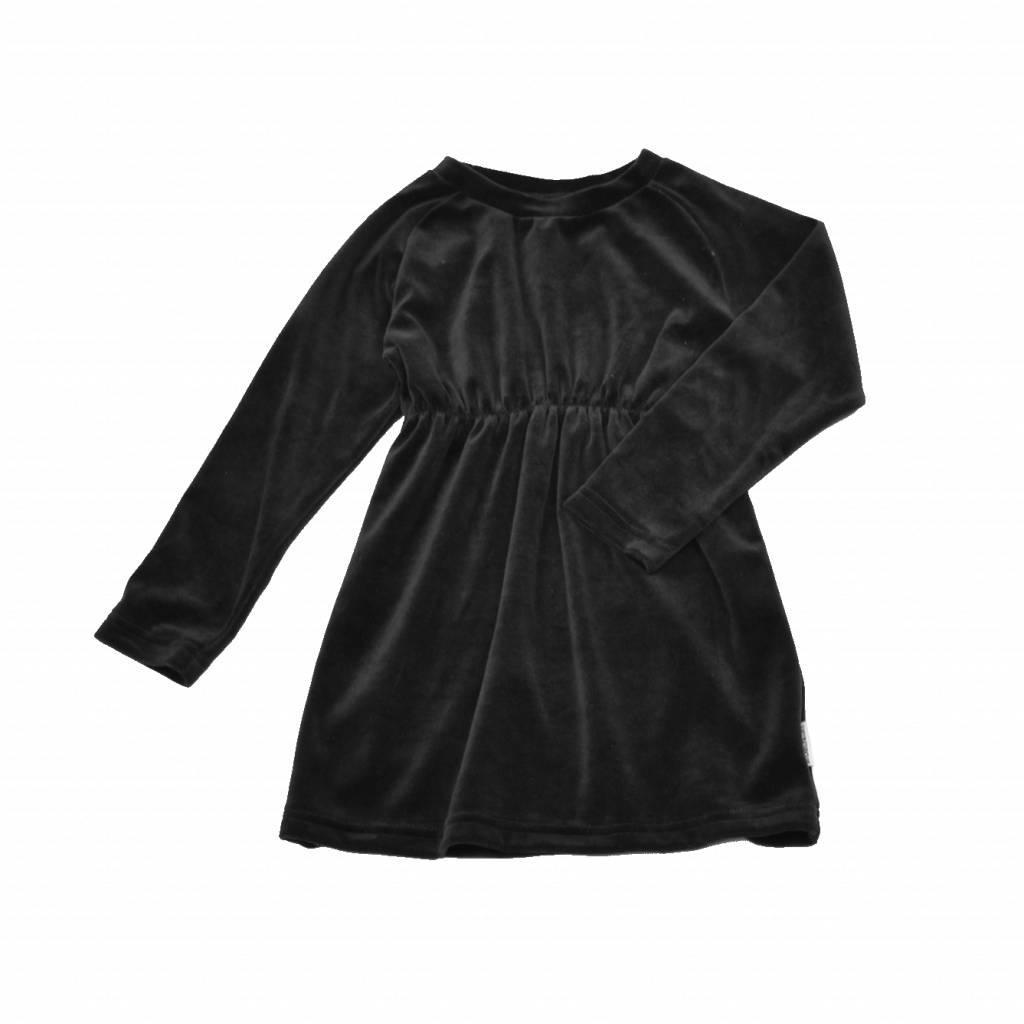 velours zwart jurkje meisjes