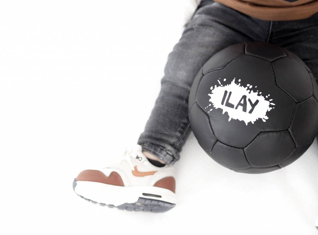 VanPauline GREEN CHILD FOOTBALL WITH BLACK LEOPARD PRINT   VANPAULINE
