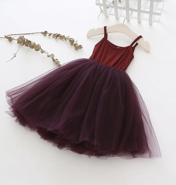 Ma Mer TUTU DRESS PLUM