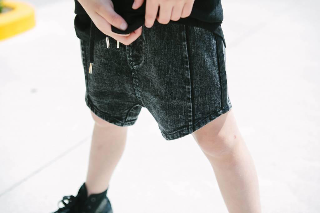 Adam + Yve BLACK ACID WASH SHORTS | COOL SHORTS FOR BOYS | ADAM + YVE