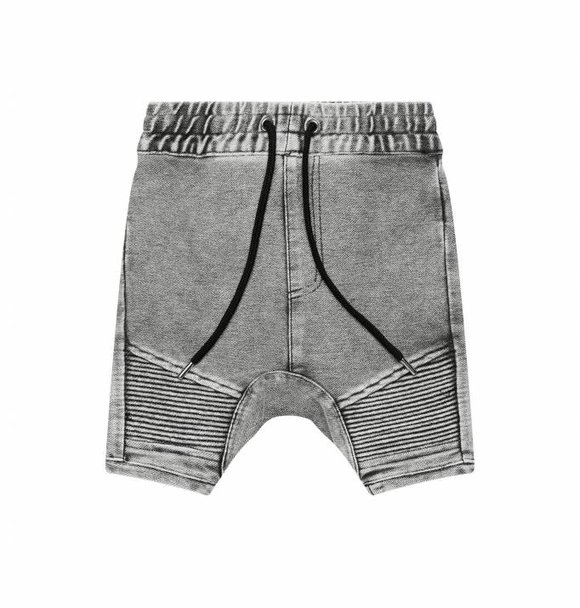 Adam + Yve GREY DENIM BIKER SHORTS