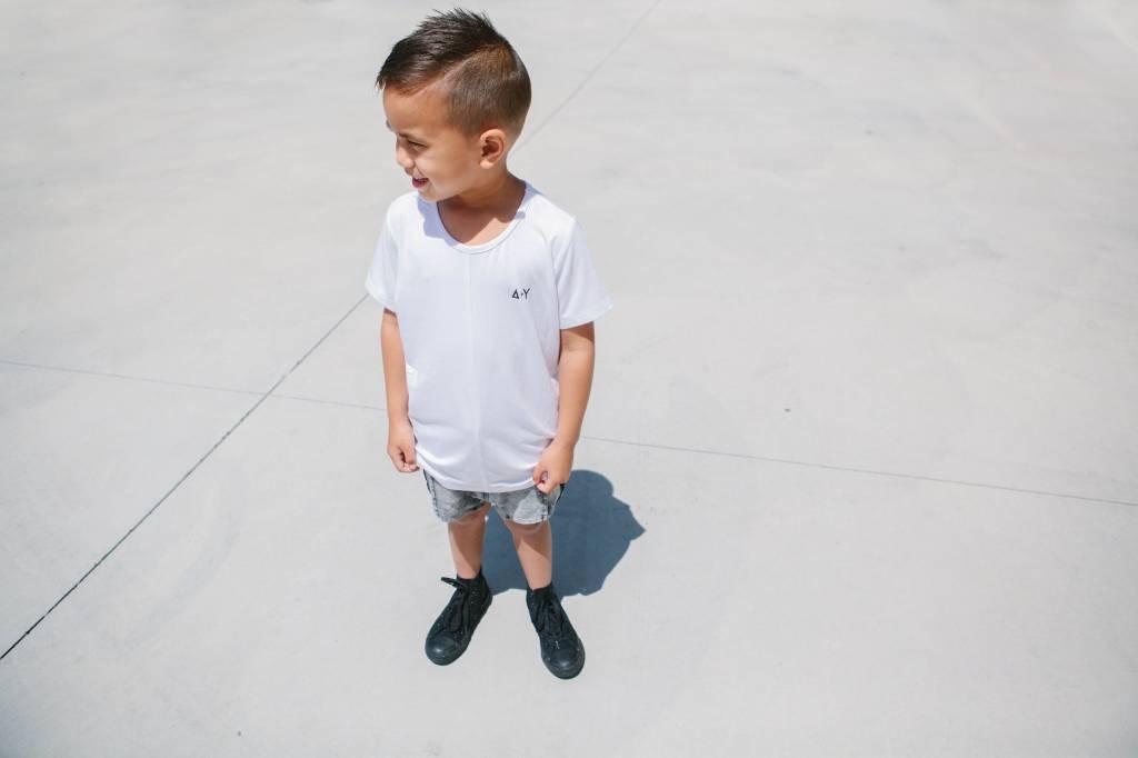 Adam + Yve WHITE TSHIRT FOR BOYS   HIGH QUALITY STREETWEAR FOR KIDS
