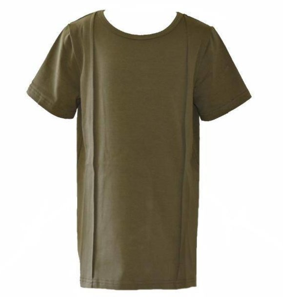 Young Blood Apparel PLEATED TEE OLIVE