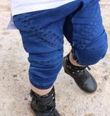 Young Blood Apparel DARK BLUE DENIM 3/4 CHINO WITH LOWER CROSS BOYWEAR STREETWEAR