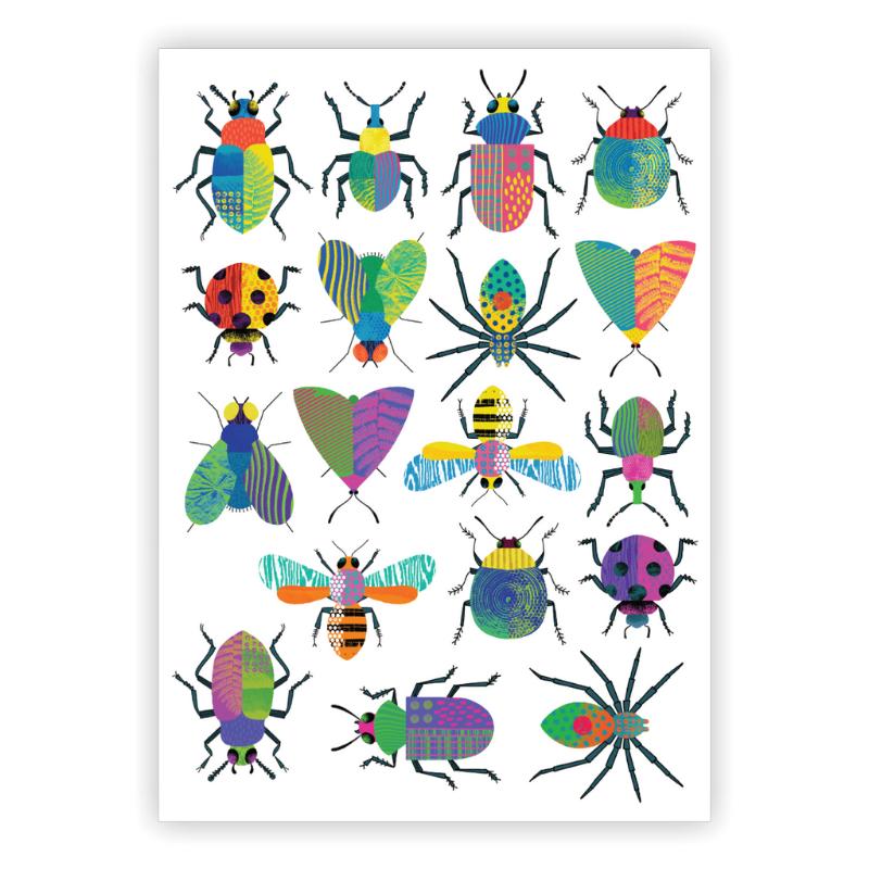 Ducky Street INSECTEN TATTOOS -  Insekten sticker tatoeages met water afneembaar