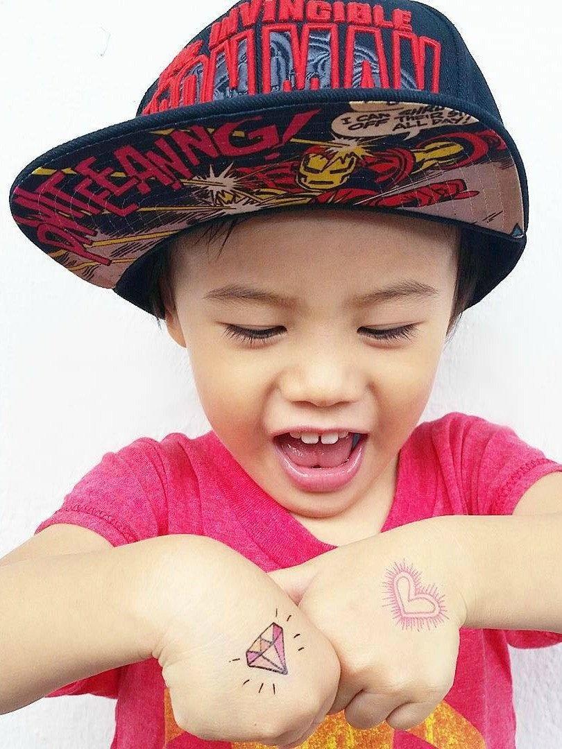 Ducky Street DIAMONDS TATTOOS | CHILD TATTOO | TEMPORARY TATTOO