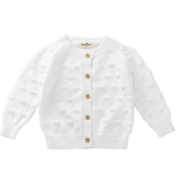 Ma Mer KNITTED CARDIGAN WHITE