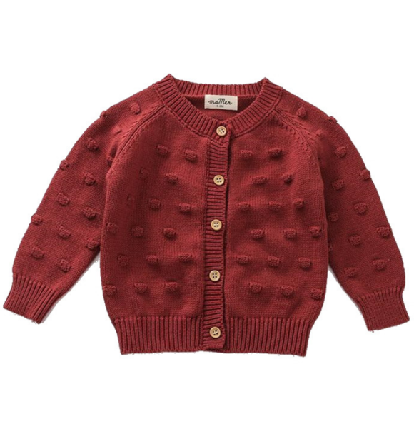 Ma Mer KNITTED CARDIGAN CHERRY