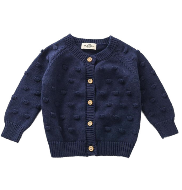 Ma Mer KNITTED CARDIGAN NAVY